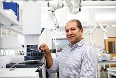 image of Dr. Abdelhay in a lab