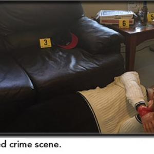 Staged crime scene